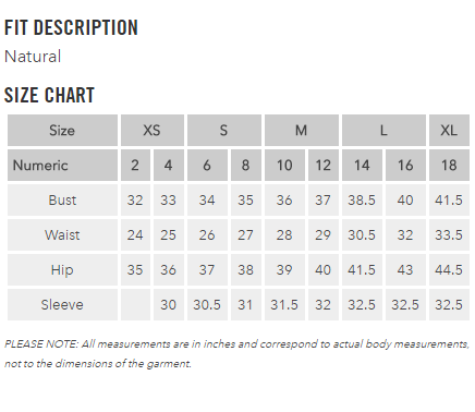 Ex officio womens size chart