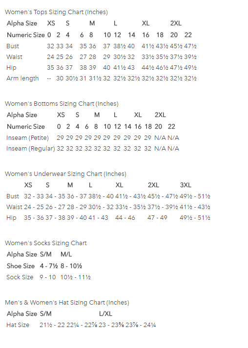 Ex Officio Womens Clothing Size Chart Going In Style