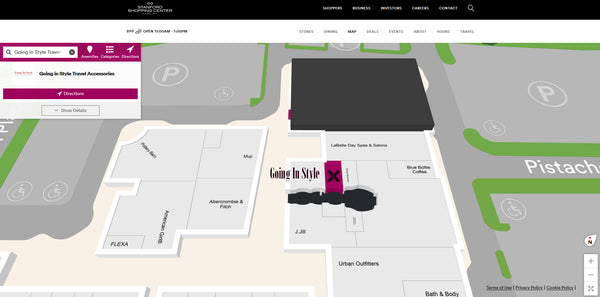 Going In Style Stanford Store Interactive Map