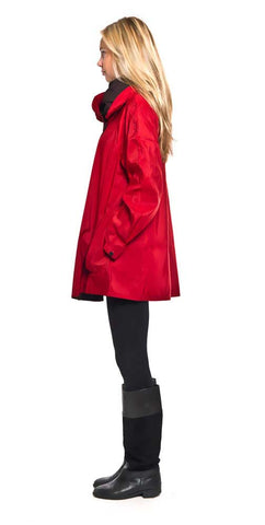 Shop Mycra Pac Mini Red Button Up Raincoat with Oversize Hood