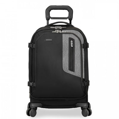 EXPLORE DOMESTIC CARRY-ON EXPANDABLE SPINNER carry on suitcase black