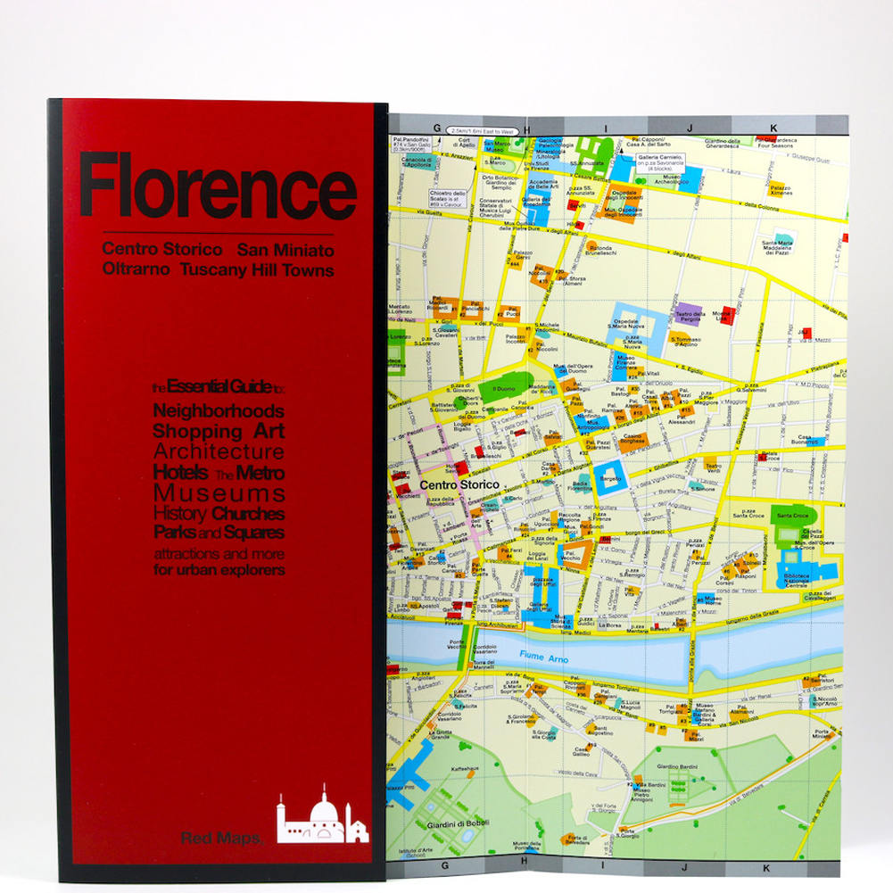 Red Map Florence Going In Style