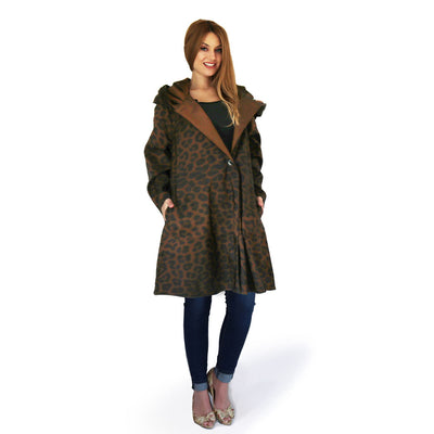 Mycra Pac Leopard Raincoat with Hood