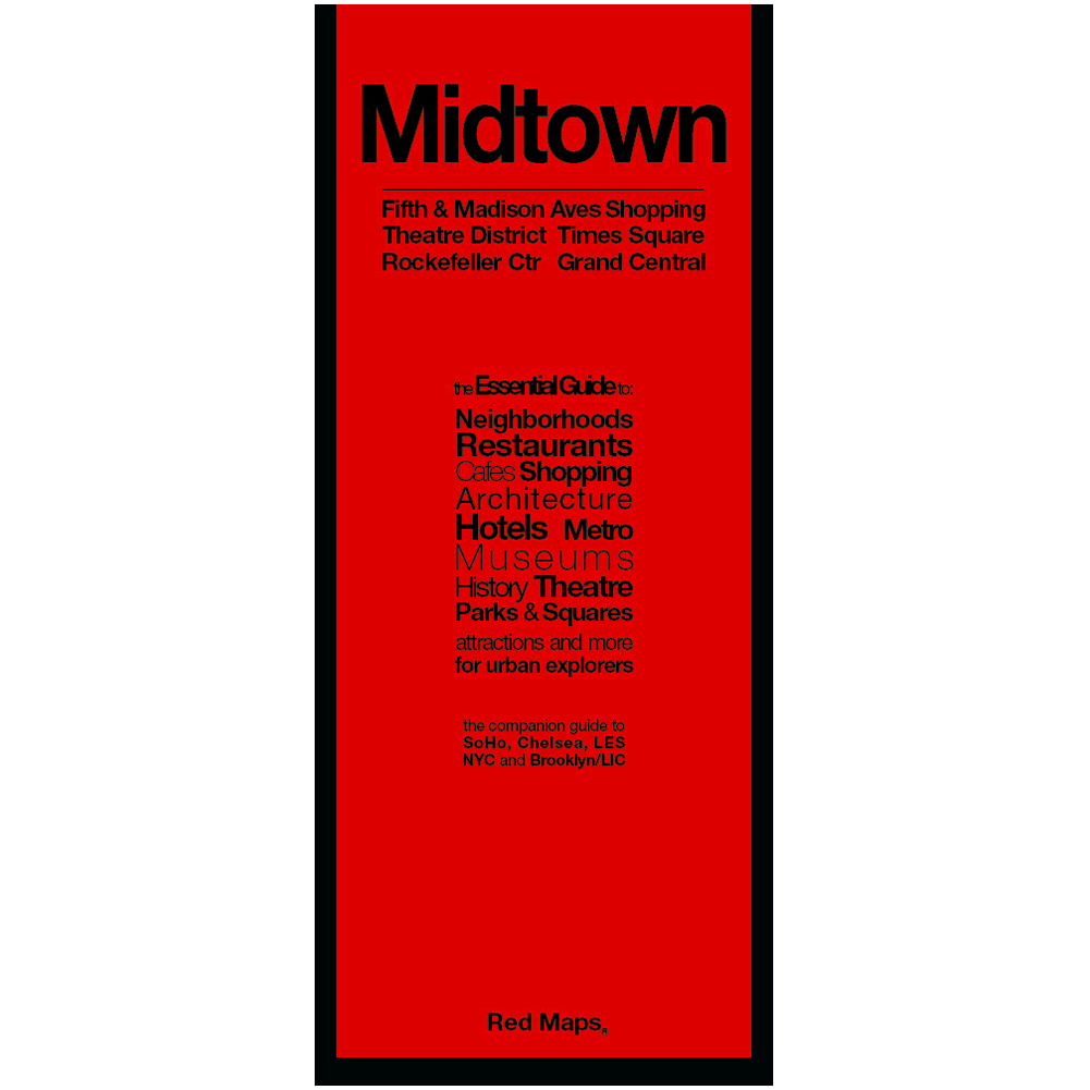 Map Of Midtown New York.Red Map Nyc Midtown Manhattan Going In Style