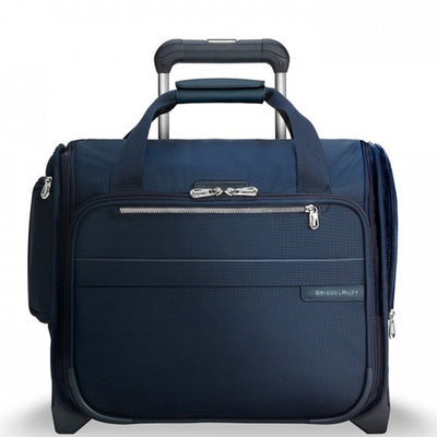 "Navy Briggs & Riley Baseline Rolling Cabin Bag 15.5"" Carry-On Model U116"