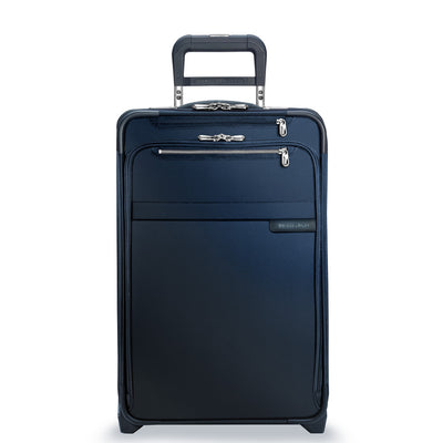 "NAvy Briggs & Riley Baseline Domestic Carry-On Expandable Upright 22"" Model U122CX"