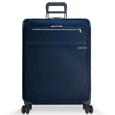 "Navy Blue Briggs & Riley Baseline Large Expandable Spinner 28"" Model U128CXSP"