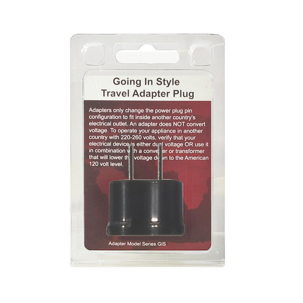Going In Style Adapter Plug America to Japan Non Grounded A Polarized