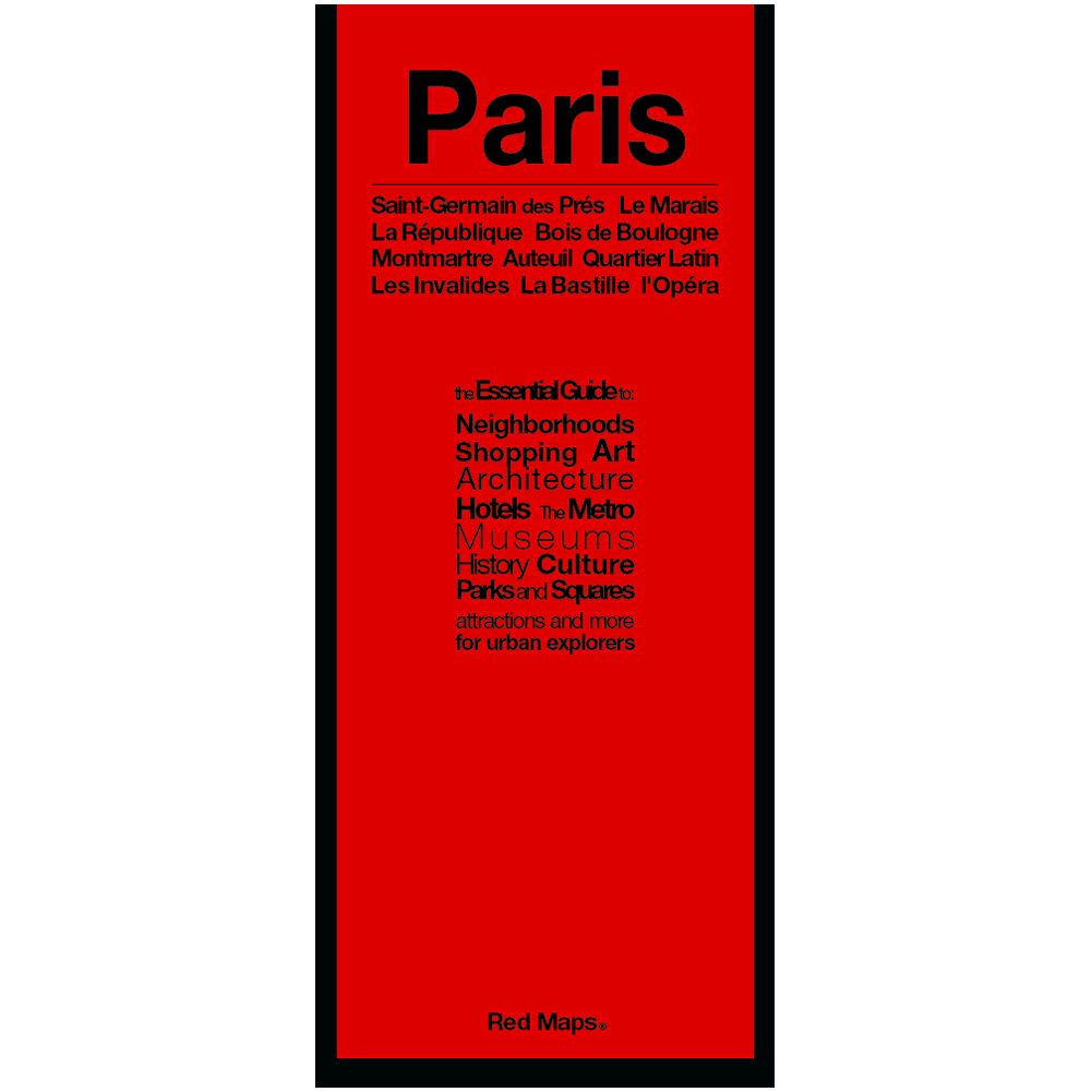 Red Map Paris Going In Style - Map of bastille area paris