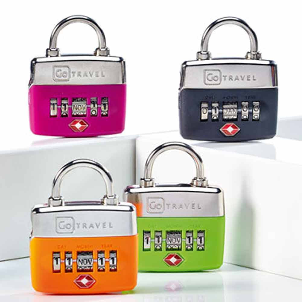 Design Go Accessories Going In Style Security Zipper Lock Portable Mini Padlock For Bags Birthday Locks Colors Pink Orange Green And Black
