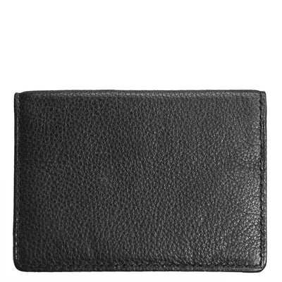 Black Leather Wallet with ID Window in Front Castello