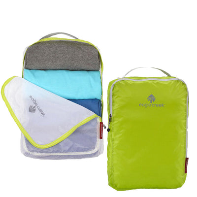 Pack-It Eagle Creek Packing Cubes Showing T Shirts Packed Inside and Unzipped