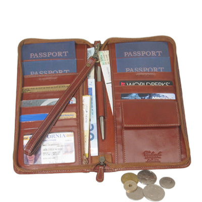 Family Passport Case with Change Pocket and Wristlet