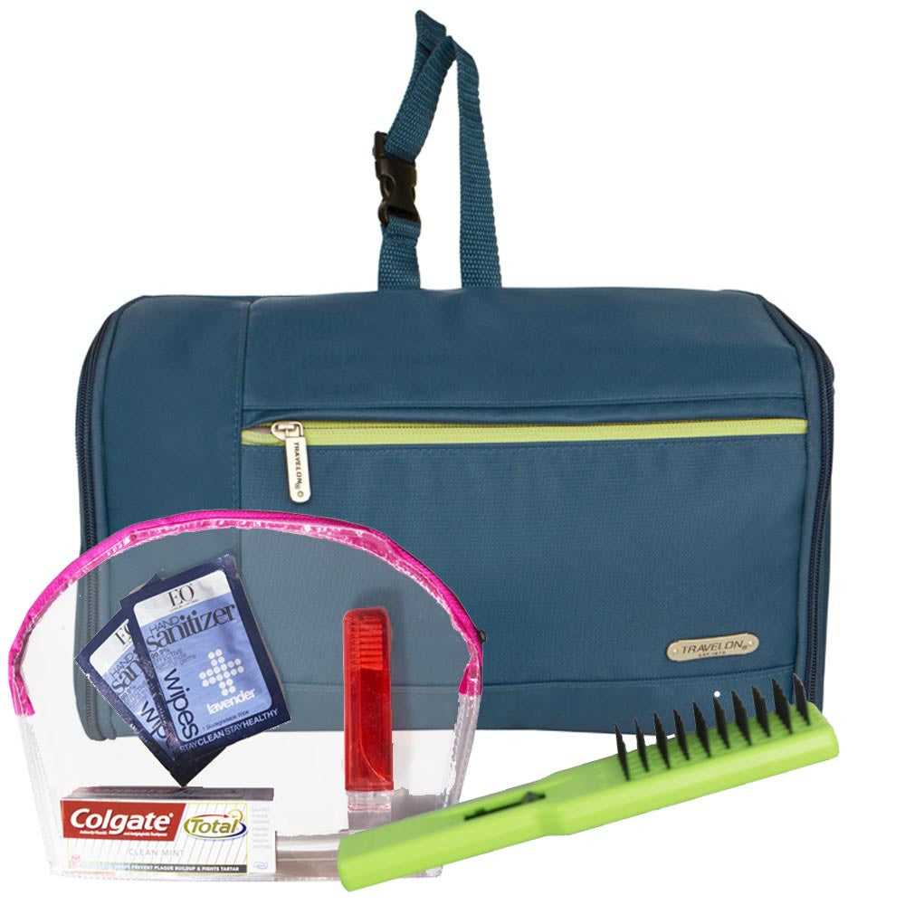 Flat Out Toiletry Kit Travelon with One Quart TSA Bag and Travel ...