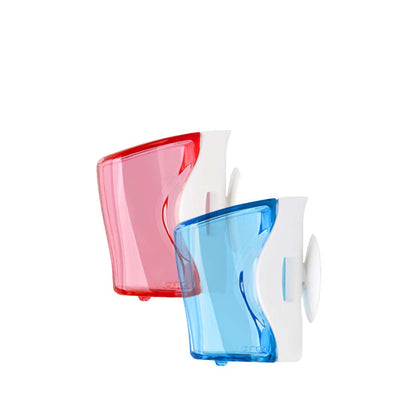 Two Pack Flipper Travel Toothbrush Cover in Colors Blue and Pink