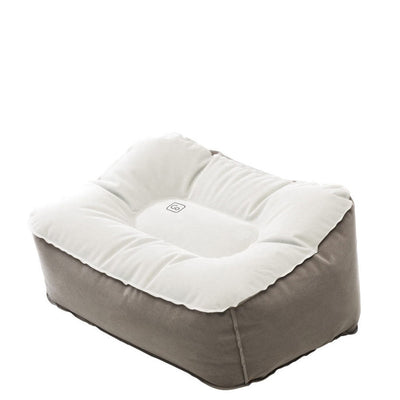 Inflatable Travel Footrest White and Gray