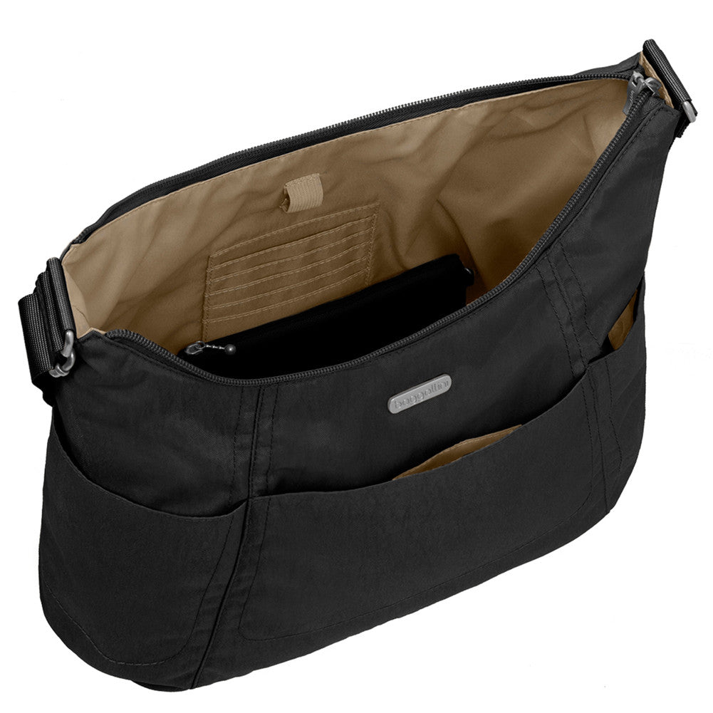 0df2d7602d ... Alternative view of Bagallini Hobo Tote Purse in black with sand  colored lining ...