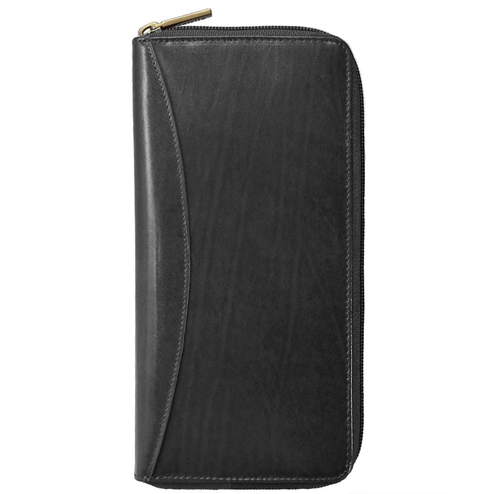 b3da2eaeb277 Italian Leather Zip Around Passport Wallet Castello - Going In Style