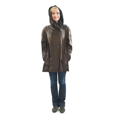 Bronze Colored Lightweight Rain Wear with Large Hood