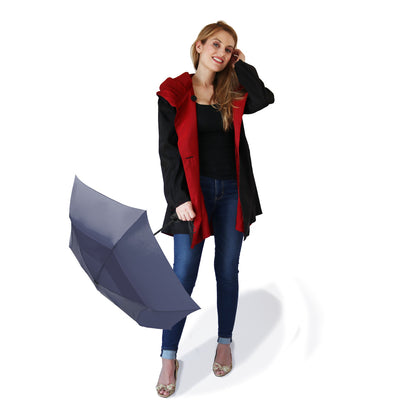 Mycra Pac Reversible Brick Red Coat