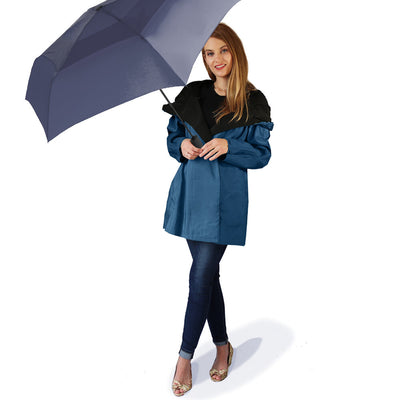 Dona Mycra Pac Umbrella Coat Mini Space Blue