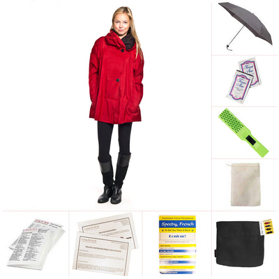 Mycra Pac Red Mini Raincoat Set