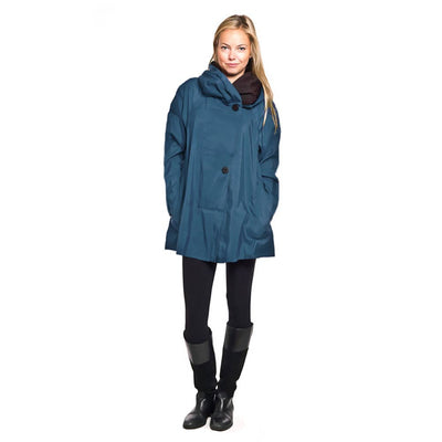 Mini Sapphire Teal Blue Colored Mycra Pac Coat