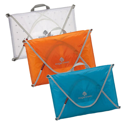 Eagle Creek Packing Folders in Colors Clear, Orange and Blue