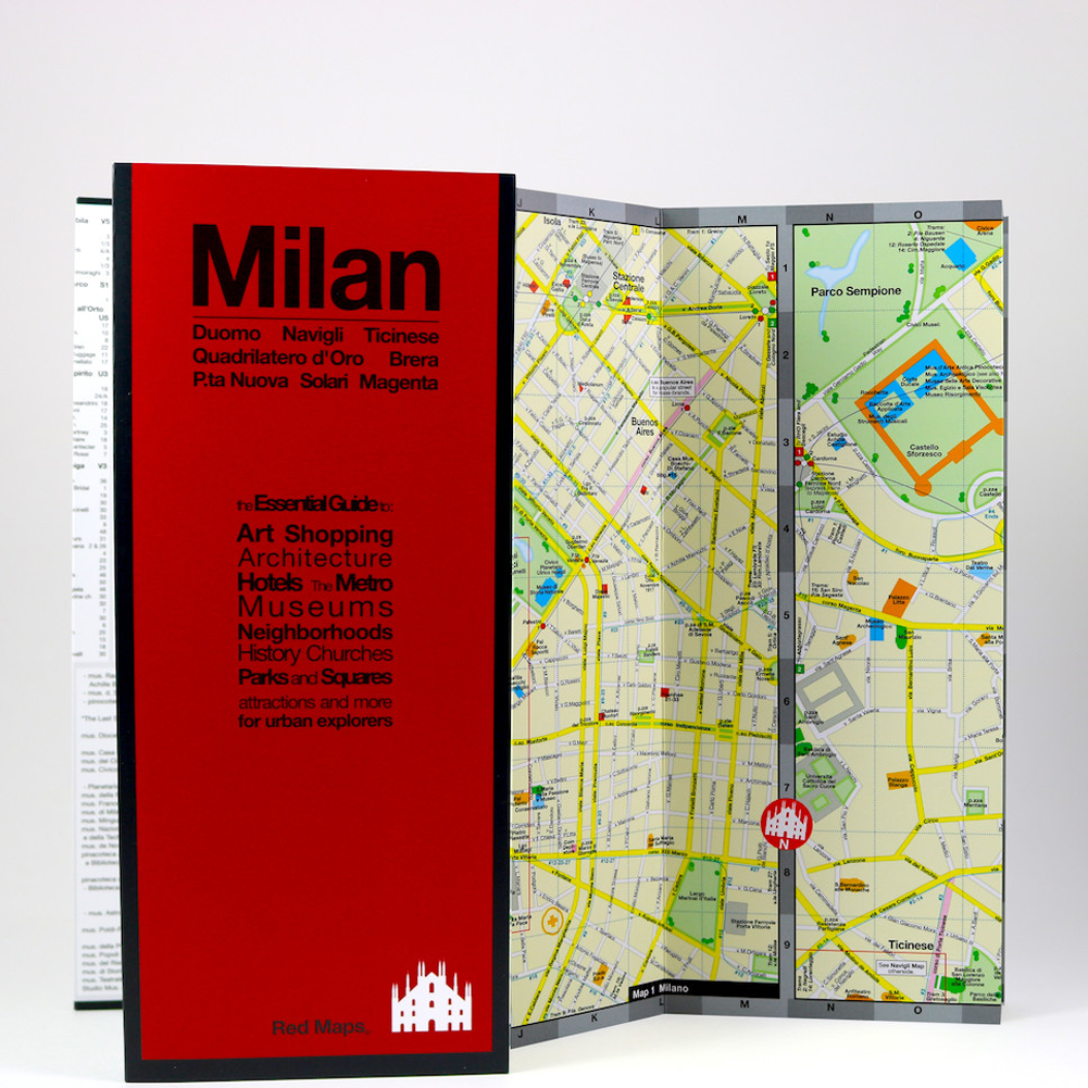 Show A Map Of Italy.Red Map Milan