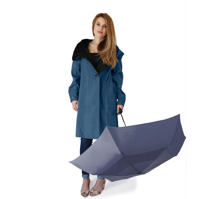 Short Dona Blue Umbrella Mycra Paqc Raincoat