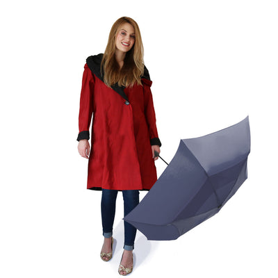 Mycra Pac Umbrella Coat Short Dona Brick Red