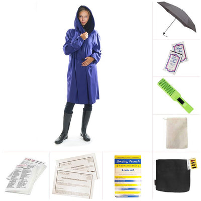 Mycra Pac Short Grape Raincoat Set