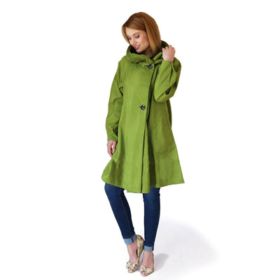 Mycra Pac Dona Short Grass Green Coat