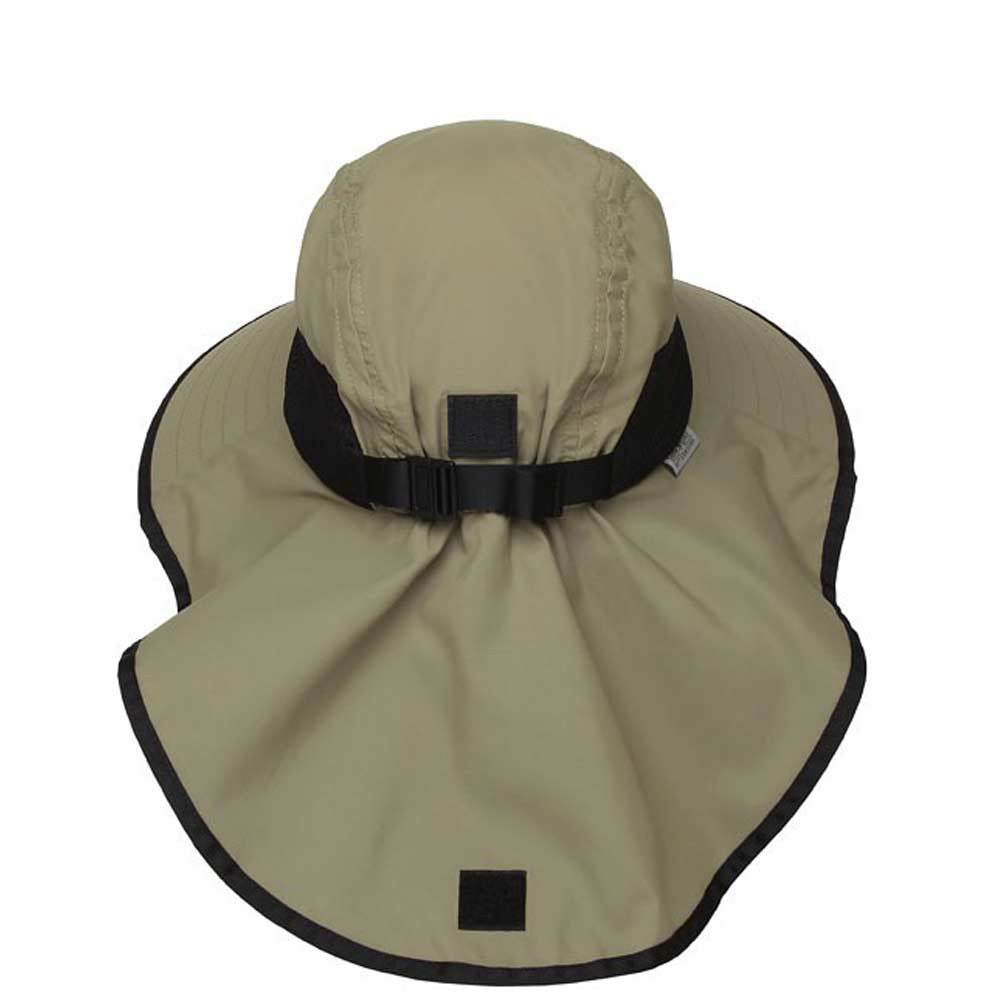 DarkKhaki · Linen · Back of Sand Colored Dark Khaki Adventure Hat with  Large Back Neck Flap · Sun ... 64db9c40cf95