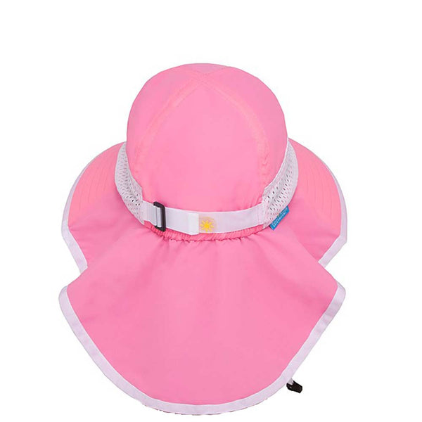 ... Pink Sunday Afternoons Kids Play Hat Back View with Large Oversize Neck  Flap ... c83330f29f57