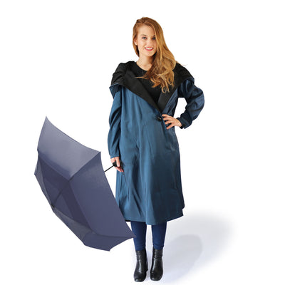 Mycra Pac Umbrella Coat Tea Dona Space Blue