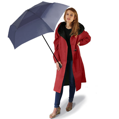 Mycra Pac Umbrella Coat Tea Dona Brick Red