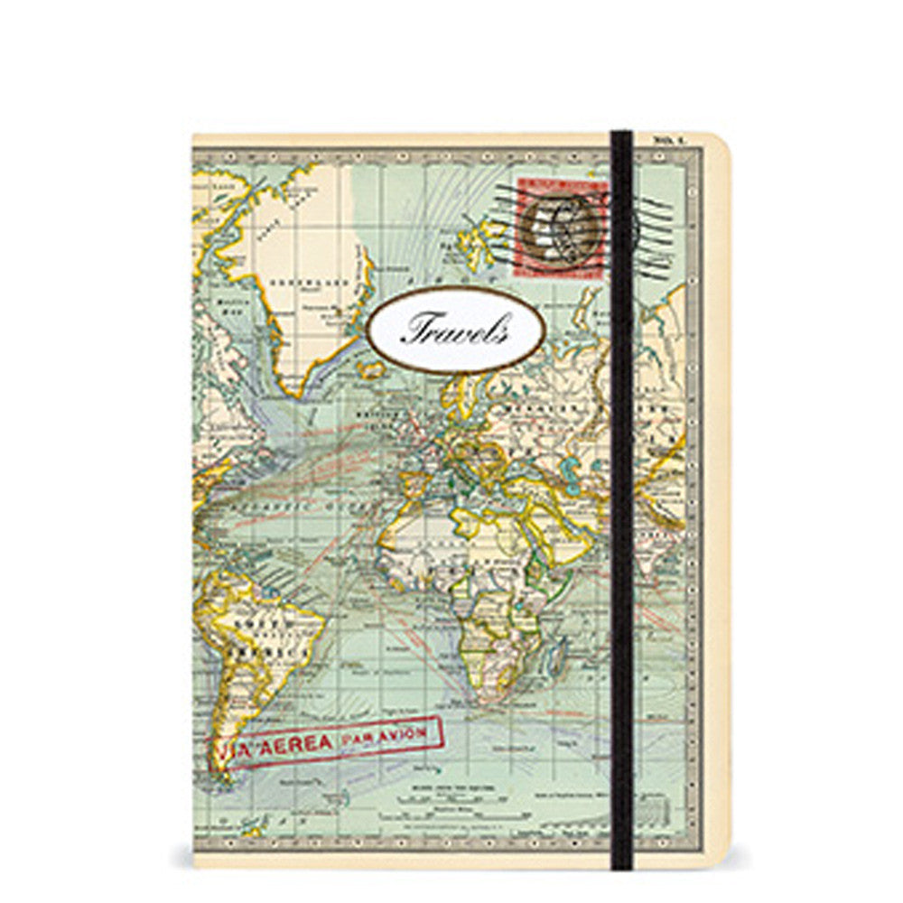 Travel notebook vintage world map large journal going in style journal with vintage map in size large gumiabroncs Images