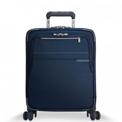 "Navy Briggs & Riley Baseline International Carry-On Expandable Wide Body Spinner 21"" Model U121CXSPW"