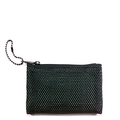 Travel Small Black Mesh Cosmetic Case Flat Style Dimensions 3 inches by 4 inches