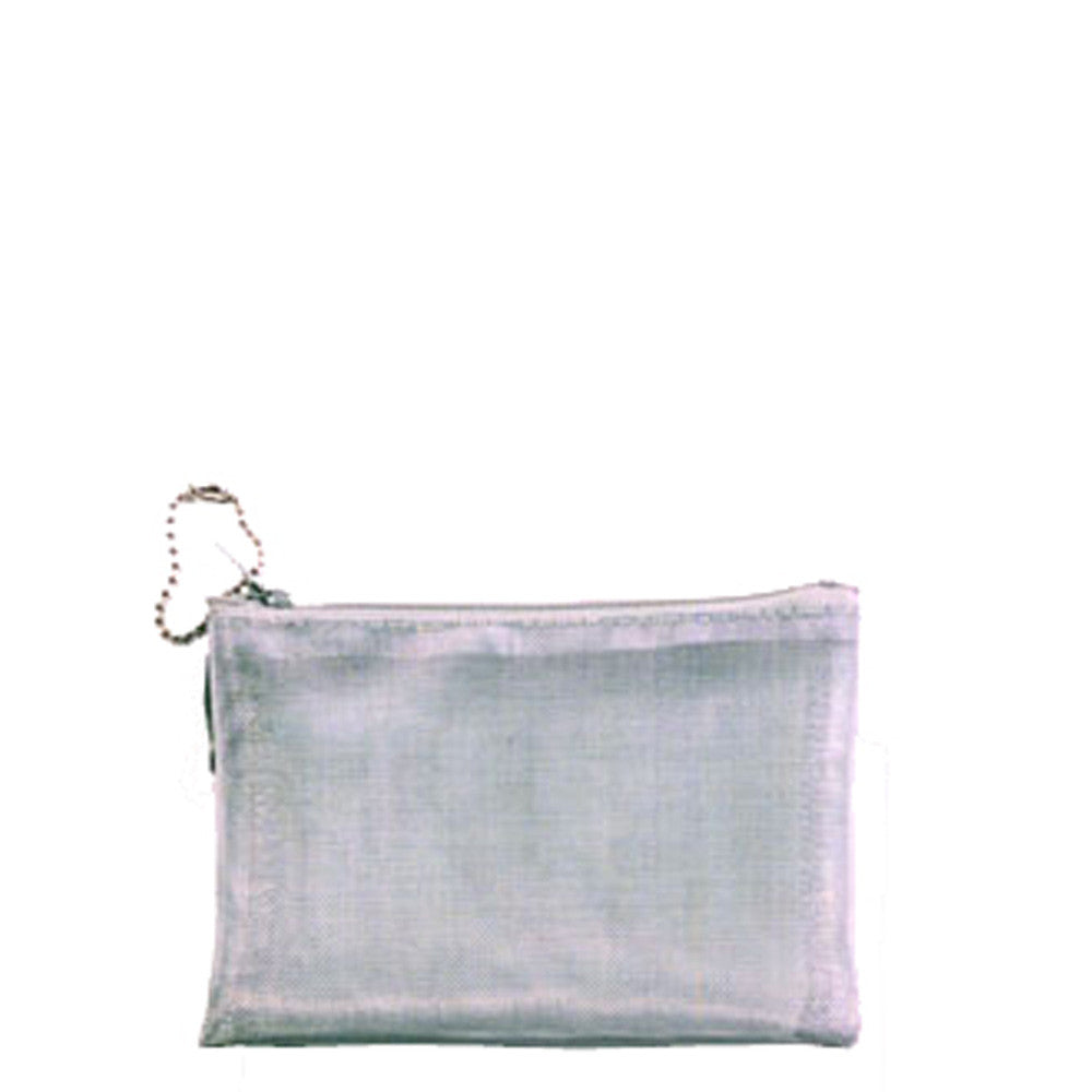 Mesh Silver Wire Travel Cosmetic Bag 3.5 X 5\