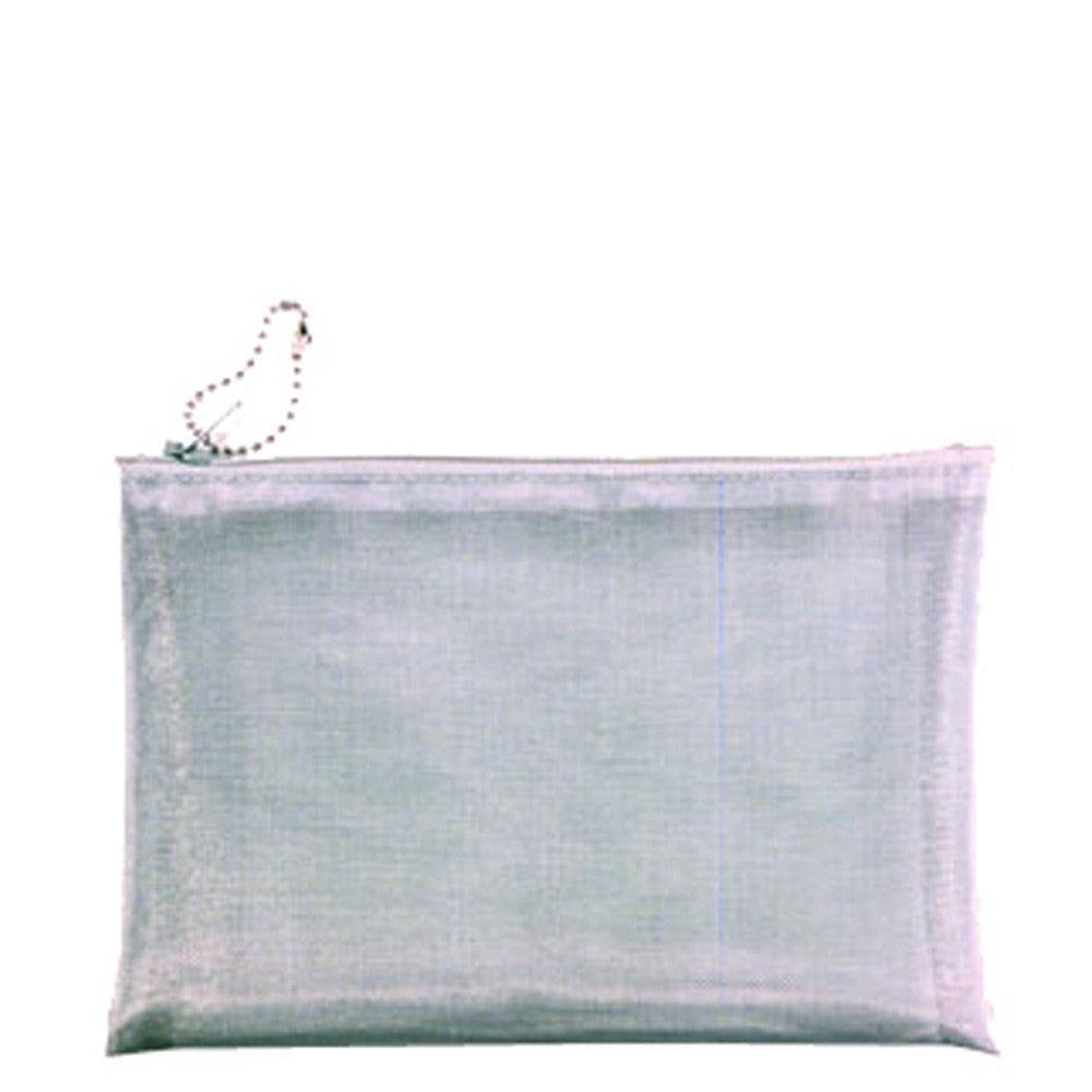 Mesh Silver Wire Travel Cosmetic Bag 5 X 7\