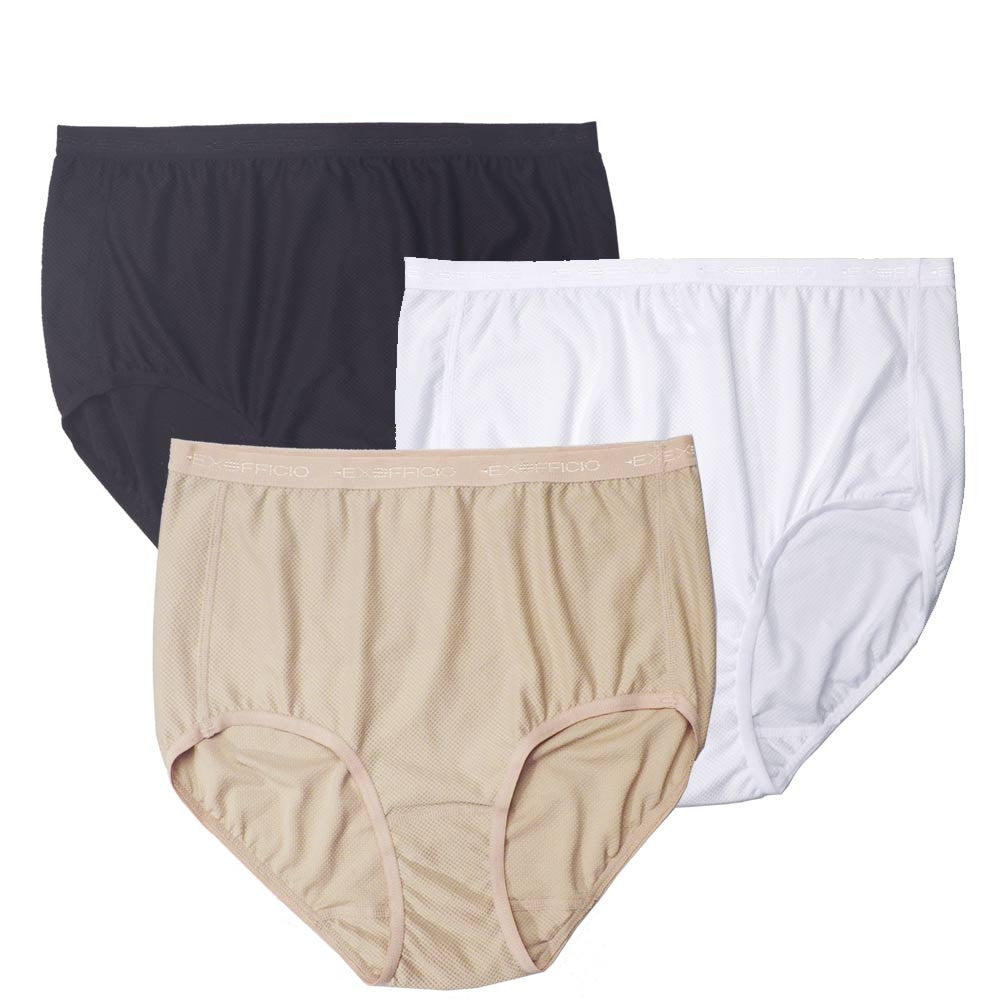 197dd30f5849 ExOfficio Womens Full Cut High Waist Panty in Colors Black Nude and White  ...