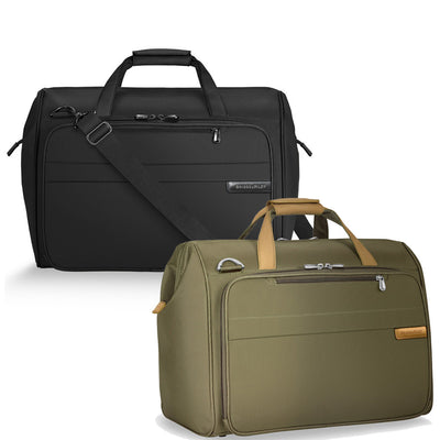 Framed Weekender Bag comes in colors black and olive