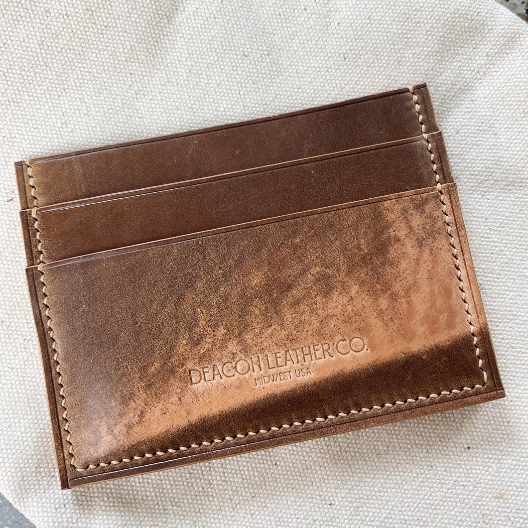 Marbled Shell Cordovan Minimalist Card Wallet