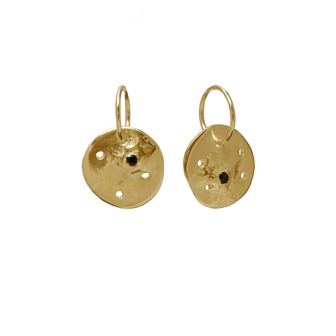 Black Star Constellation Earrings