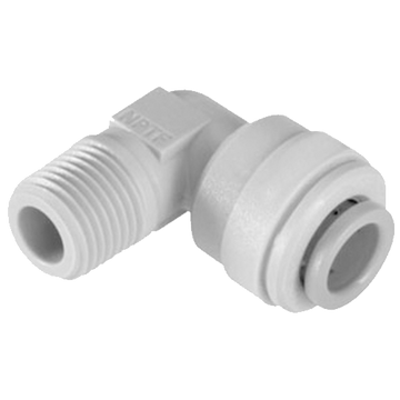 "1-4""Tube x 1-4"" Male NPT Fixed Elbow Quick Connect Fitting"
