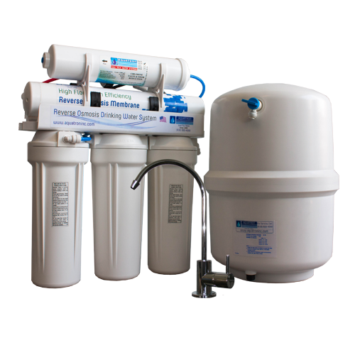 75 GPD Reverse Osmosis Low Waste and Chloramine Removal W- Plastic Tank -Made in The USA- GQM- 121-75