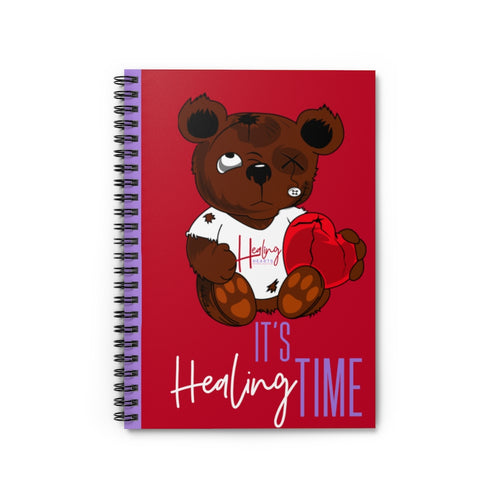 It's Healing Time Red Spiral Notebook