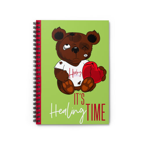 It's Healing Time Green Spiral Notebook